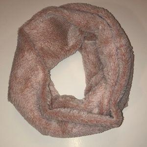 Fuzzy Pink Scarf
